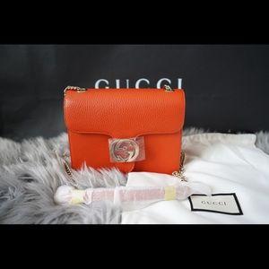 GUCCI Interlocking Dollar Calf crossbody Orange